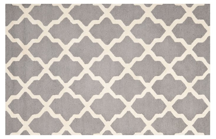 Mulberry Rug, Gray/Ivory