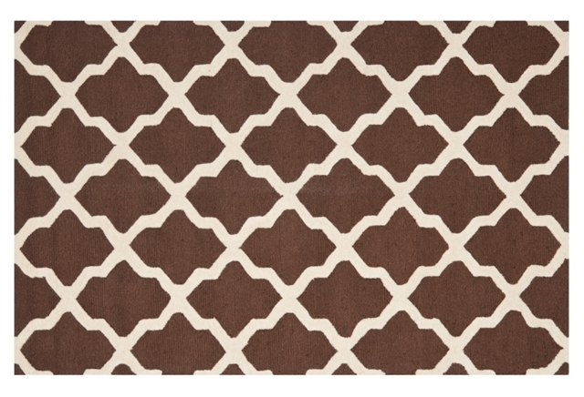 Mulberry Rug, Brown/Ivory