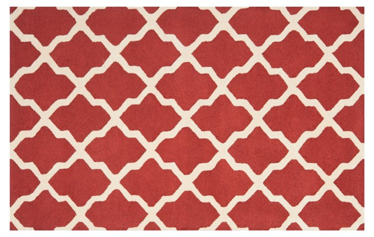Mulberry Rug, Rust/Ivory