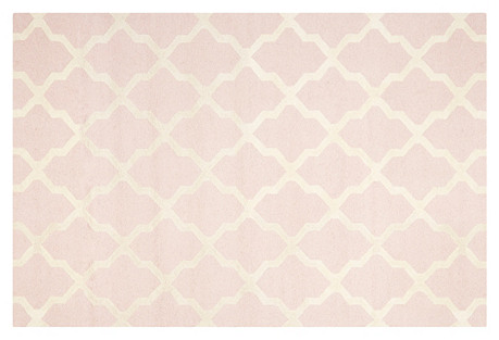 Mulberry Rug, Pink/Ivory