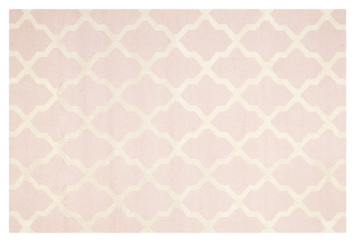 Mulberry Rug, Pale Pink/Ivory