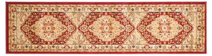 "2'3""x8' Anja Runner, Red/Cream"