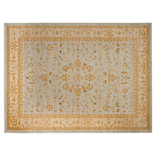 Flavia Rug, Light Gray/Gold