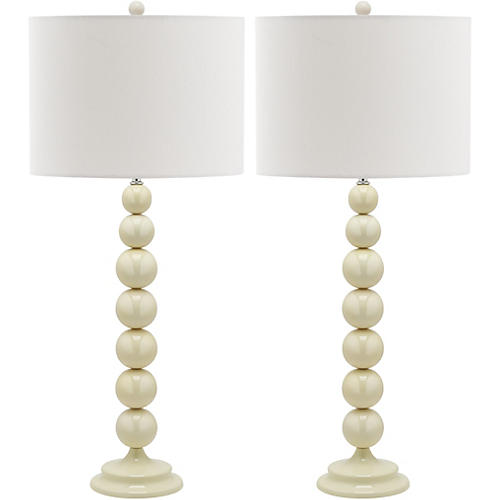 Knot Table Lamp Set, White