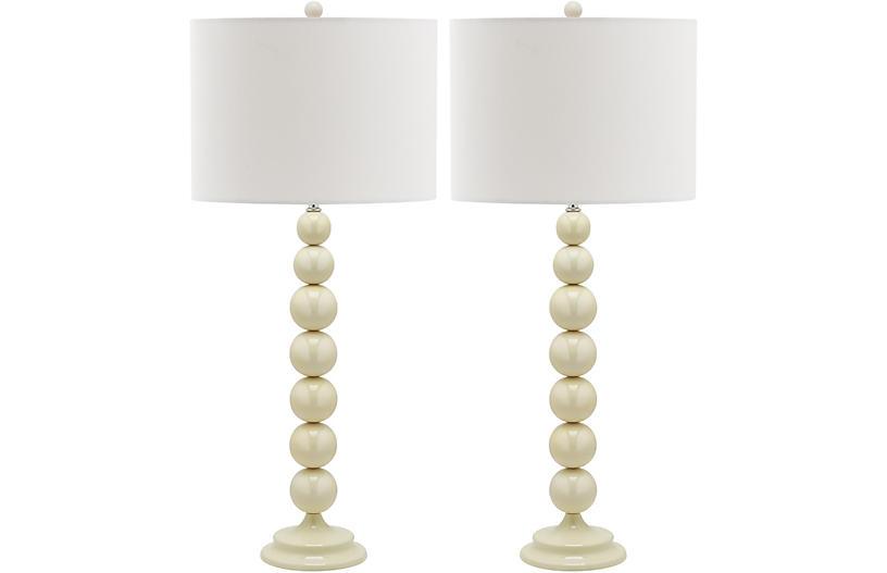 Knot Table Lamp Set, White