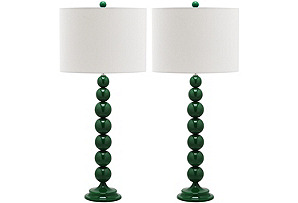 Knot Table Lamp Set, Dark Green*