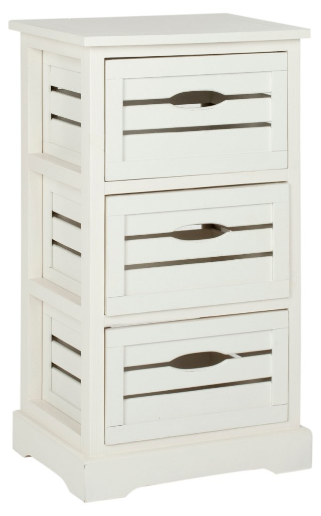 Catherine 3-Drawer Cabinet, Cream