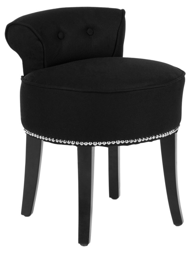 Vivi Vanity Stool, Black