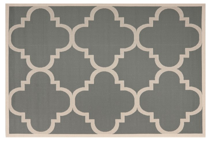 Ellis Outdoor Rug, Slate/Tan