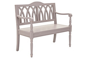"Jasper 40"" Bench, Moon Gray"