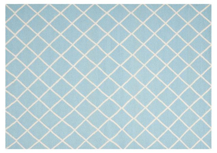 Maci Flat-Weave Rug, Sky