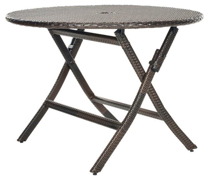 Outdoor Ellis Round Folding Table