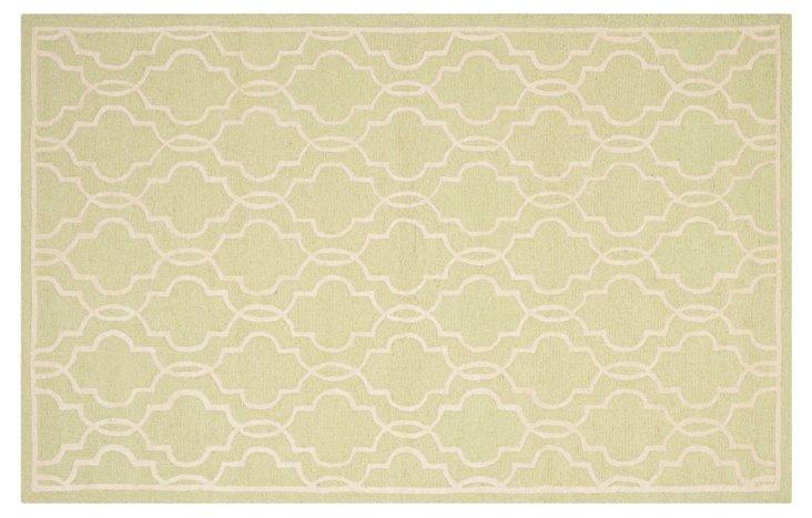 Hadden Rug, Light Green/Ivory