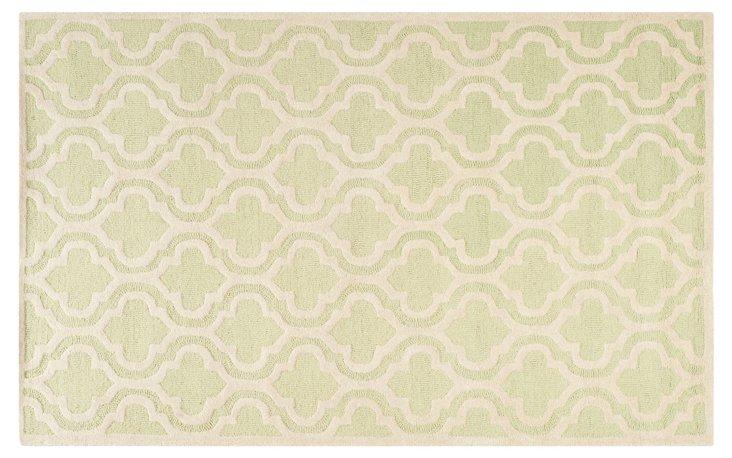 Sacha Rug, Light Green/Ivory