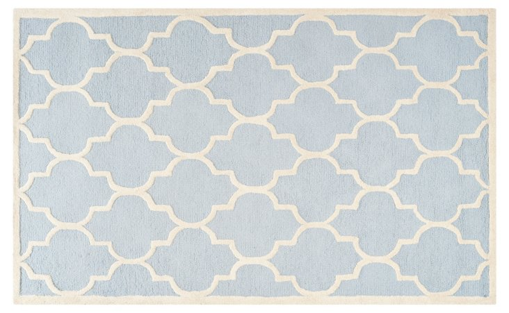 Sawyer Rug, Light Blue/Ivory