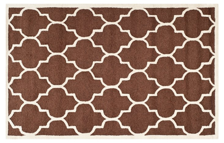 Sawyer Rug, Dark Brown/Ivory