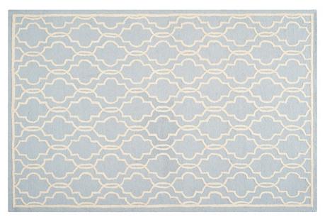 Hadden Rug, Light Blue/Ivory