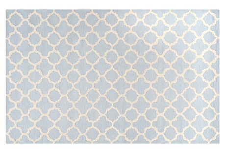 9'x12' Liam Rug, Light Blue/Ivory