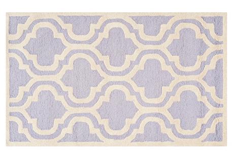 Sacha Rug, Lavender/Ivory