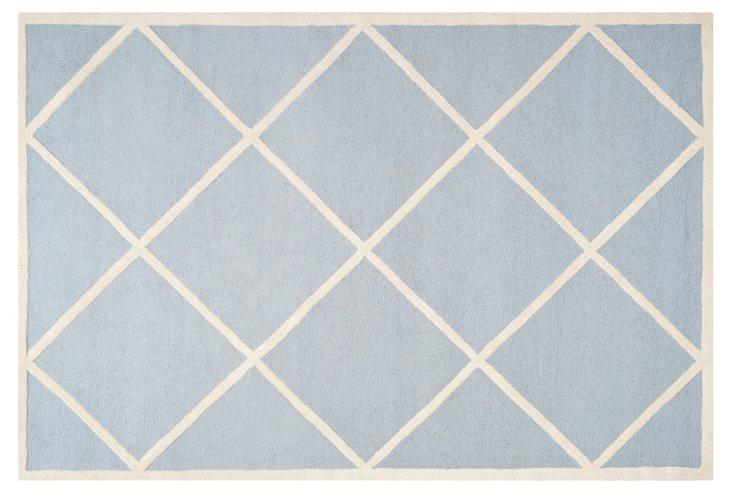 Logan Rug, Light Blue/Ivory