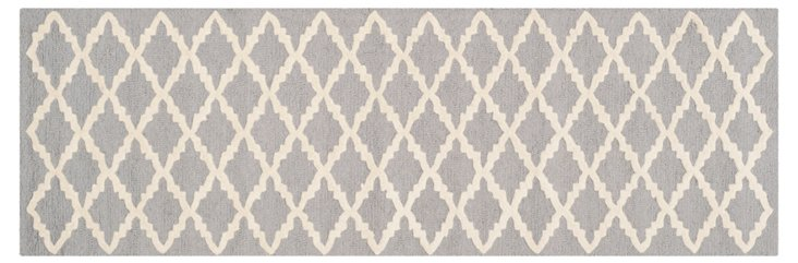 Claire Runner, Silver/Ivory