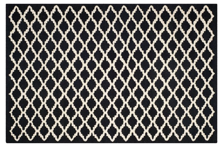 Claire Rug, Black/Ivory