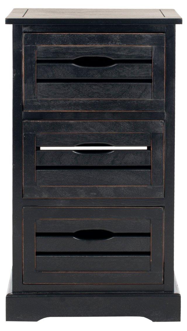Catherine 3-Drawer Cabinet, Black