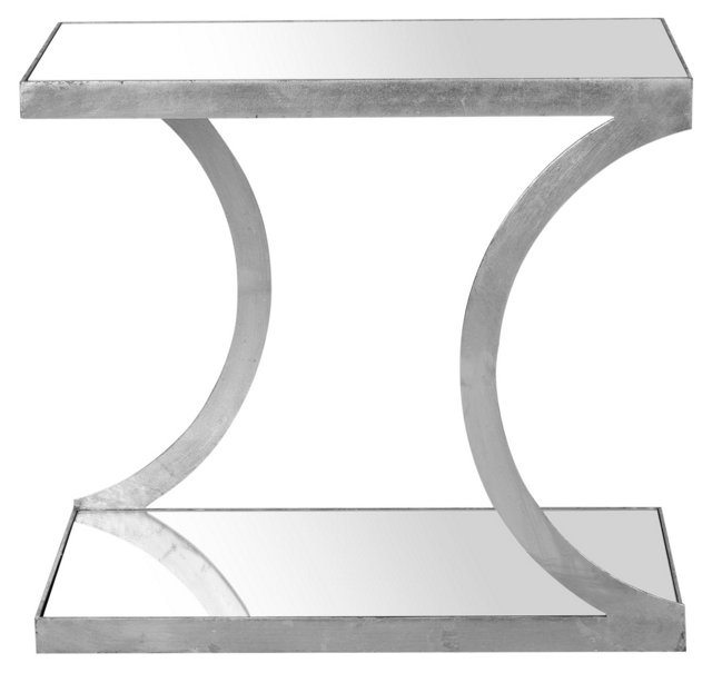 Claiborne Side Table, Silver