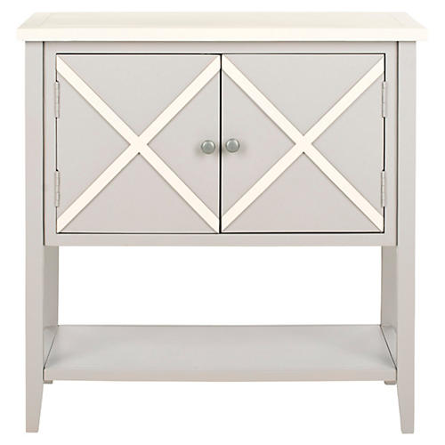 Honor Sideboard, Light Gray/White