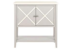 Honor Sideboard, Light Gray/White