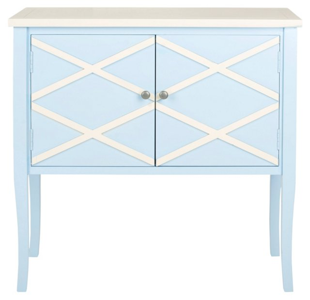 Levesque Sideboard, Light Blue/White