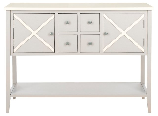 Gemma Sideboard, Light Gray/White