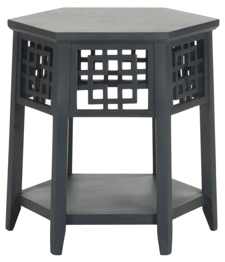 Magnolia Side Table, Dark Gray