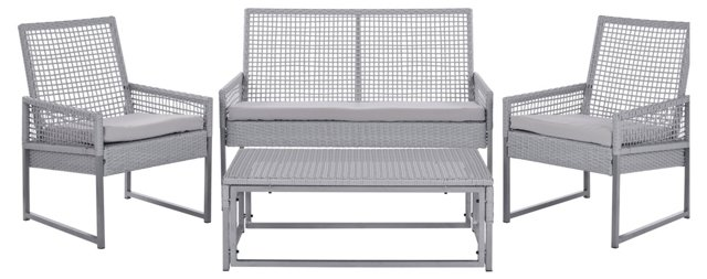 Walton Outdoor Lounge Set, Gray