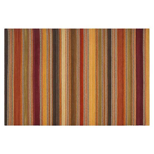 Sobral Flat-Weave Rug, Gold