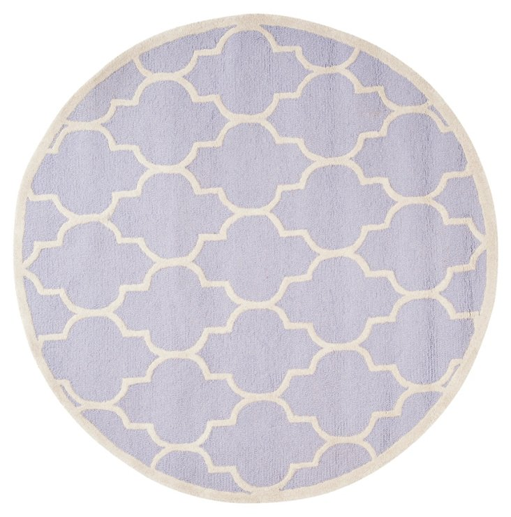 6' Round Sawyer Rug, Lavender/Ivory