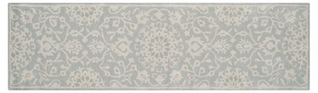 Campbell Rug, Gray/Silver