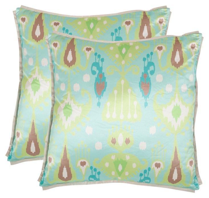S/2 Stella 18x18 Pillows, Blue