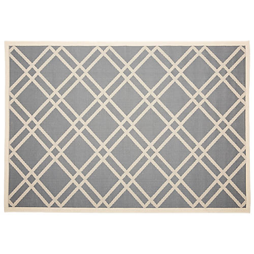 Lola Outdoor Rug, Anthracite