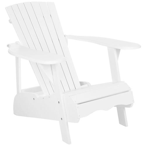 Mopani Adirondack Chair, White