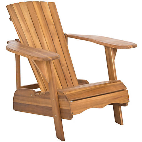 Outdoor Kingston Adirondack Chair, Teak