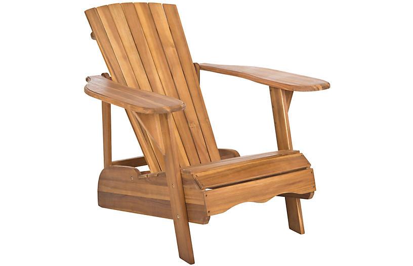 Mopani Adirondack Chair, Natural