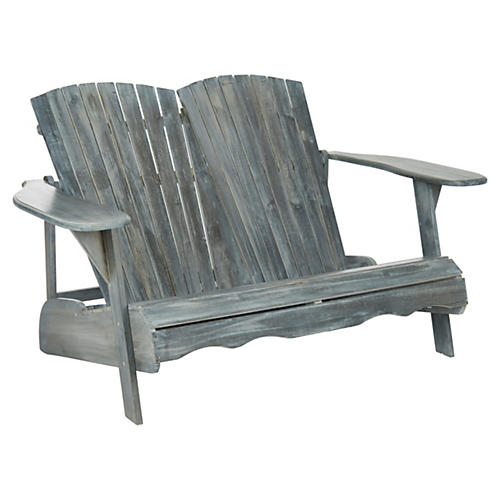 Outdoor Kingston Bench, Gray