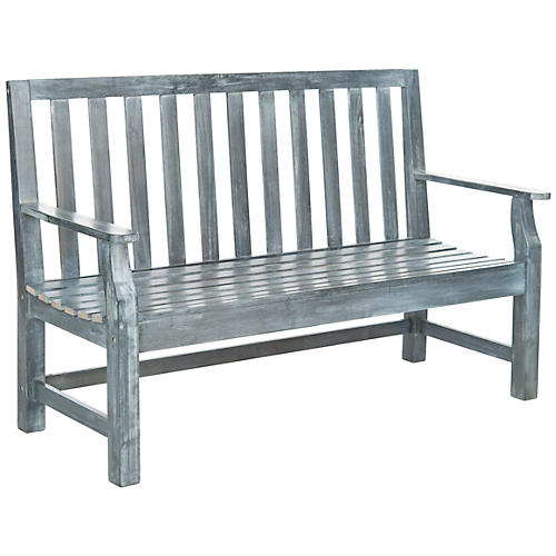 "Outdoor Dorset 60"" Bench, Ash Gray"