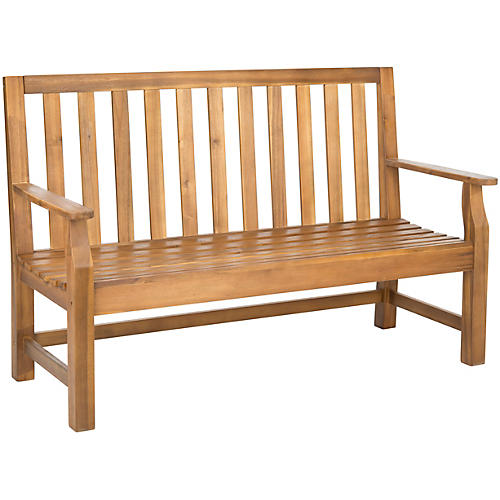 "Outdoor Dorset 60"" Bench, Natural"
