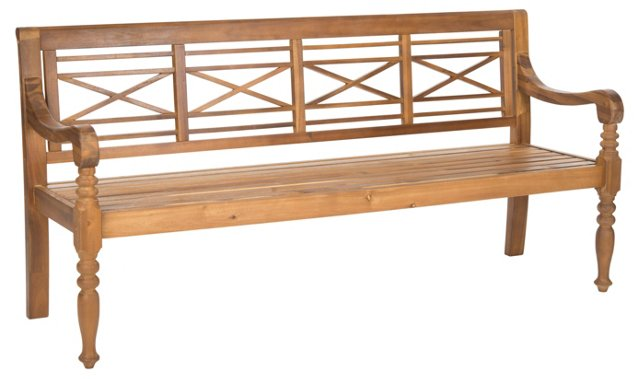 "Outdoor Winslow 70"" Bench, Teak"