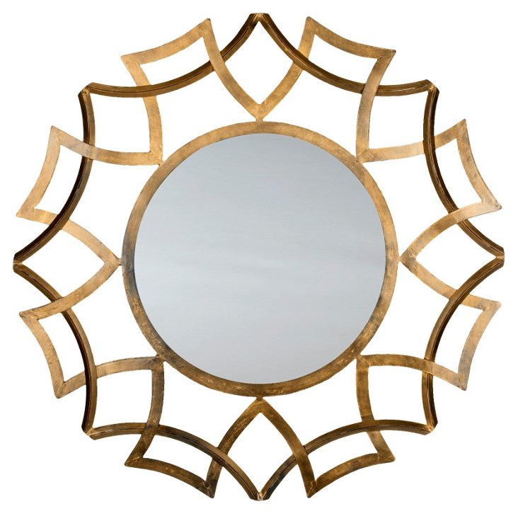 Athens Wall Mirror, Gold