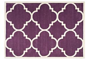 Mia Rug, Purple/Ivory