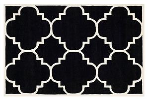 Mia Rug, Black/Ivory