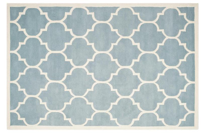 Tamako Rug, Blue/Ivory